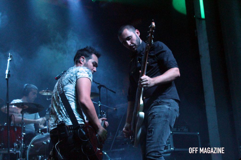 Alex y Nacho durante el concierto de la Sala Arena