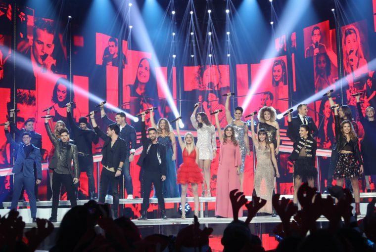 Operación Triunfo 2001 y 2017 Gala de Navidad